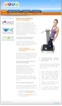 VIBO - Whole Body Vibration Exercise Programs